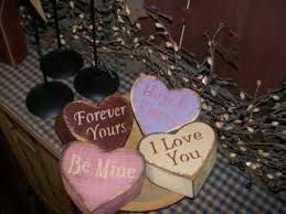 primitive valentine decor primitive valentine block sign sweetheart hearts love