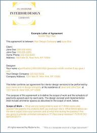 Example Of An Agreement How To Write An Interior Design Letter Of Agreement Or