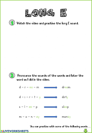 From novice to master learners. Phonics Long E Worksheet