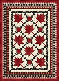 23 best Canada quilts images on Pinterest | Quilt block patterns ... & Maple Leaf Parade - Throw Size Quilt Kit Adamdwight.com