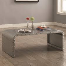 Metal Industrial Coffee Table And End Tables