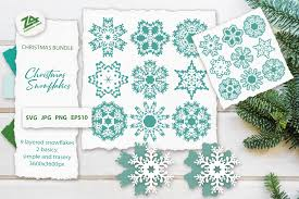 This holiday season, let it snow, let it snow, let it snow with a flurry of paper snowflakes embellished with hidden mickeys. Christmas Snowflakes Svg Cut Files Bundle 1086972 Cut Files Design Bundles