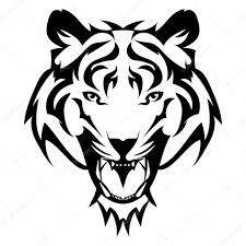 Tygr Tetování Vektorové Tygří Hlavu Jako Designový Prvek Na