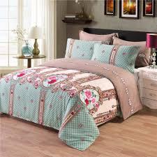 palace euro style bedding set rose pattern duvet cover set bed cover pillowcase uk us size single