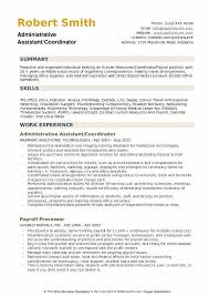 Administrative Assistant Coordinator Resume Samples QwikResume Gorgeous Administrative Coordinator Resume