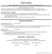 Resume For Entrepreneurs Examples Sample Lpn Nursing Resume