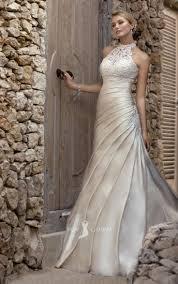 Draped Garland Lace Wedding Dress