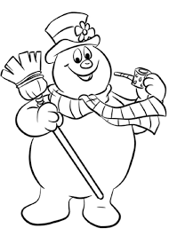 Frosty Snowman Coloring Pages Coloring Pages Books Frosty The