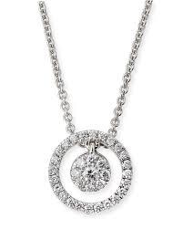 roberto coin tiny treasures diamond halo circle pendant necklace