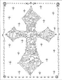 Small Picture Religious Coloring Pages for Adults Coloring Book of Crosses