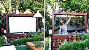 full size of best indoor outdoor projector screen diy material build show thyme how to an