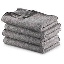 military style wool blend blankets 4 pack
