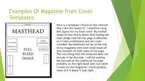 Magazine Cover Layout Template Under Fontanacountryinn Com
