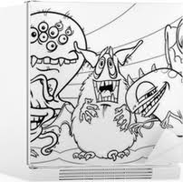 Fotobehang Cartoon Monsters Groep Kleurplaat Pixers We Leven Om