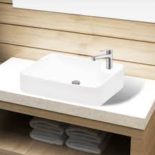vidaxl bathroom sink basin countertop ceramic 1 4