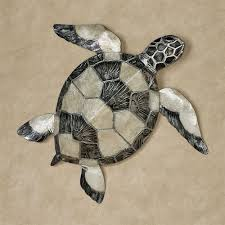 sea turtle mother of pearl and metal