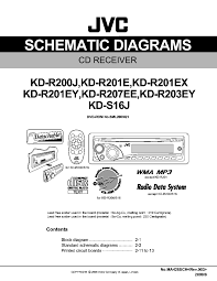 wiring harness jvc kd s wiring automotive wiring diagrams jvc kd r200 r201 r203 r207 s16 schematic diagrams pdf 1 description jvc kd r200 r201 r203 r207 s16 schematic diagrams pdf 1 wiring harness jvc kd s