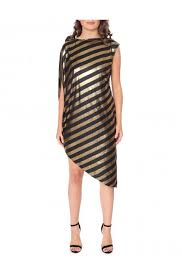 women s tino striped one shoulder dress forever unique