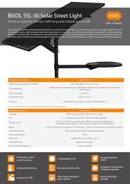 BISOL SSL30 Solar Street Light  BISOL  PDF Catalogues Solar Street Light Brochure