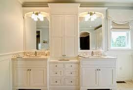 double sink vanity with storage tower. magnificent double vanity with center tower and middle vanities decoration sink storage