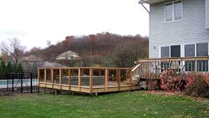 clear deck railing this was built around the whirlpool for easy access panels allow full view