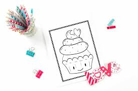 We all make mistakes sometimes, if. Printable Cupcake Coloring Pages 20 Different Pages Fun Happy Home