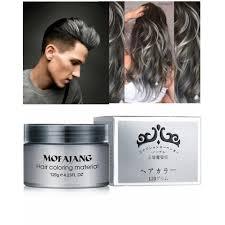 hair color wax ash grey