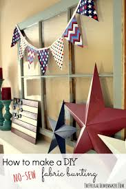 How To Make Bunting Without Sewing Machine