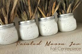 Fall Table Decorations With Mason Jars Painted Mini Mason Jar Fall Centerpiece Hometalk 52