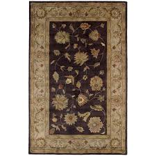 dynamic rugs charisma eggplant ivory 2 ft x 4 ft indoor area rug