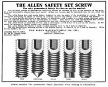 Allen Screw Size Chart Hex Key Wikipedia