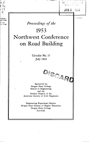 Northwest Conference Road Building On 1953