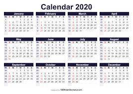 2020 Photo Calendar Template 210 2020 Calendar Vectors Download Free Vector Art