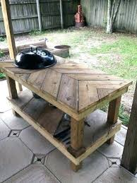 outdoor grill prep table pin by on big green egg in station and reclaimed furniture plans grill prep table outdoor