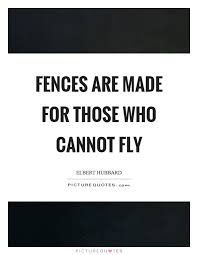 Fences Quotes Cool Fences Quotes Custom Fences Are Made For Those Who Cannot Fly