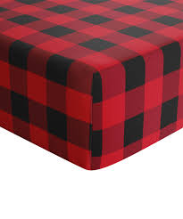 all gone red black buffalo plaid crib sheet