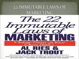 22 Immutable Laws Of Marketing 22 Immutable Laws Of Marketing Authorstream
