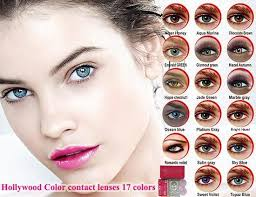Hollywood Color Contact Lenses 17 Colors Pair 1