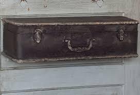 metal suitcase shelf. Modren Metal Metal Suitcase Shelf  Black From Antiquefarmhousecom  Httpwwwantiquefarmhousecomcurrentsaleeventsaccents10metalsuitcase Shelfblackhtml Intended