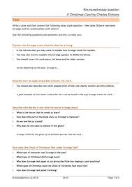 structured essay question a christmas carol by charles dickens structured essay question a christmas carol by charles dickens home page