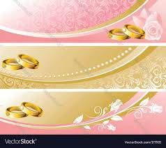 set wedding background vector image