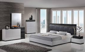 Modern Queen Bedroom Set Grey Bedroom Set Modern Queen Size Grey Black W Led Light