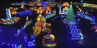 Magical winter lights in Houston at Christmas time