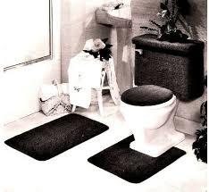 5 piece bath rug tank lid