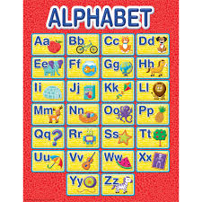 Alphabet Chart With Pictures Color My World Alphabet Chart