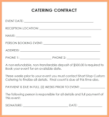 Catering Contract Template Beauteous Catering Contract Template Free Inspirational Cute Sample Ideas