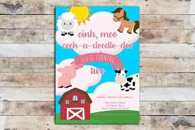 moo invitations birthday invitations olivia jane llc