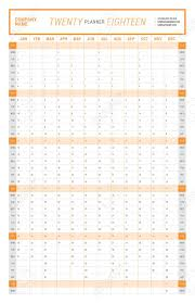 Yearly Calendar Planner Template Yearly Wall Calendar Planner Template For 2018 Year Vector Design