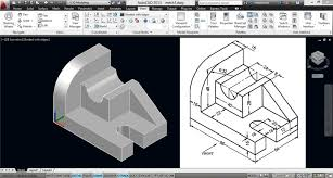 mechanical engineering screenshot of autocad 2018 engineering drawing