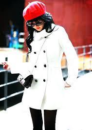 womens white peacoat winter